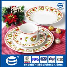 hotel banquet ceramic dinnerware, Christmas porcelain dinnerware