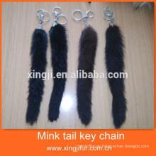 Hotsale fashion Genuine Fur Mink Tail Llavero