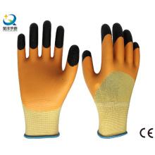 13G Polyester Liner Latex 3/4 Coated Finger Reinforced Work Glove