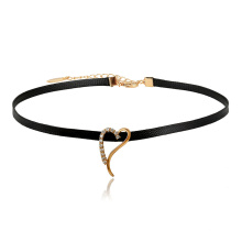 44328 Xuping Jewelry Newly Hot Sales Elegant Choker Necklace With Love Heart Shaped