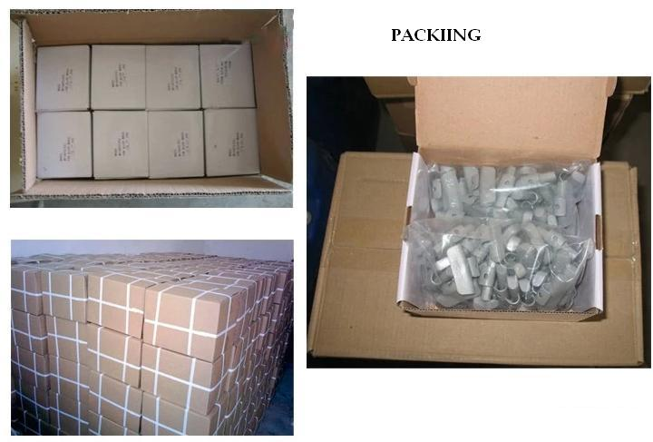 Zn clip-on weight packing