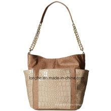 Croc-Embossed PU Leather Fashion Ladies Hobo Bag (ZXS0122)