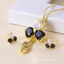 Muestras gratis Elegante Joyería 14k Gold Colour Jewelry Set (61158)