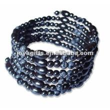 "Magnetic Snow Beaded Wrap Bracelets & Collier 36 """
