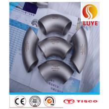 Encaixes de aço inoxidável ASTM 304 cotovelo de 90 graus