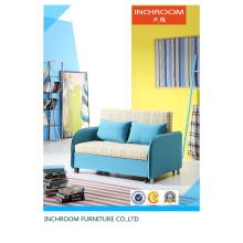 Mobiliário de sala de estar de tecido moderno flexível sofá-cama