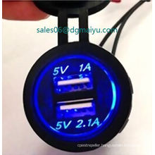 12V-24V for iPhone iPad MP3 Supply Power Dual USB Charger Socket