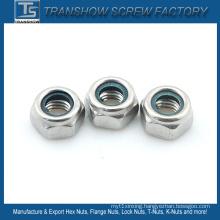 AISI 304 Stainless Steel Nylon Lock Nut M8