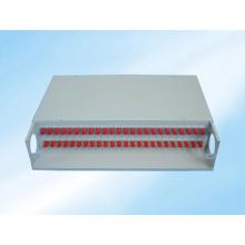 Marco de distribución de fibra óptica de montaje en bastidor de 48fibers