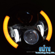 Top Qualität CE ROHS DOT Super helle 7-Zoll-LED-Scheinwerfer für Harley Jeep