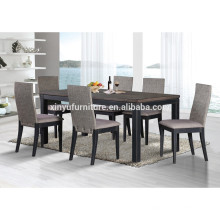 Rectangular rubber solid wood dining room set XYN1470