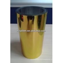 Gold beschichtete metallisierte PET-Folie