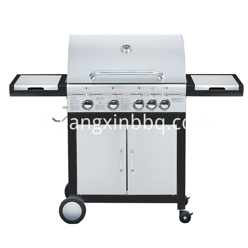 4 1 Stainless Steel Double Layer Hood Gas Grill Black Version