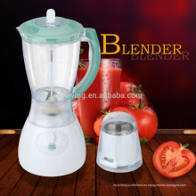 Venta caliente 4 velocidades 1.5L PS o PC Jar 2 en 1 Electric Low Noise Food Blender
