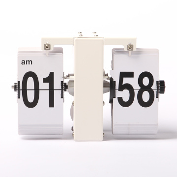 Beyaz Mini Flip Clock