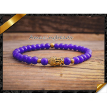 Hot Jade Stone Beads Jewelry Gold Bracelet Wholesale Fashion Jewelry (CB042)