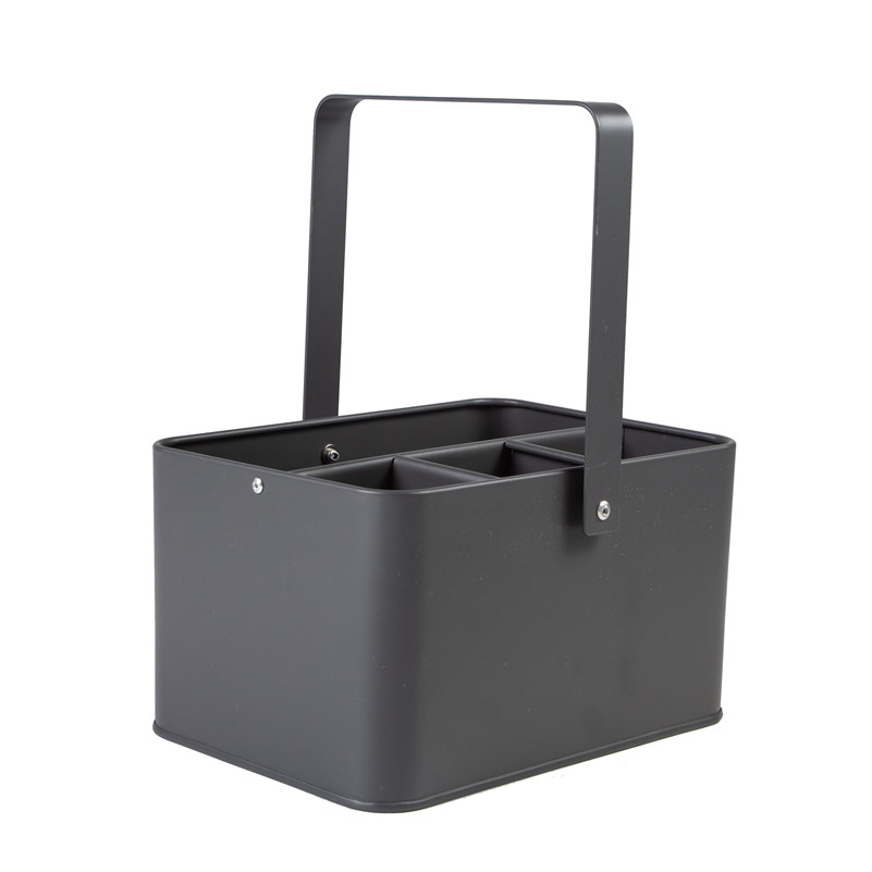 Housekeeper cleaning caddy grey
