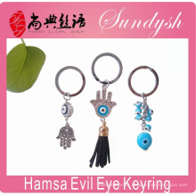 Olho mau que significa o olho mau dos anéis chave do olho de Hamsa do anel chaveiro mau