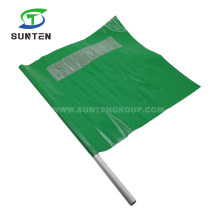 Green Traffic Road/Street Safety Warning Anti-UV/Waterproof PVC/Polyester/Nylon Printing Reflective/Fluorescent Color Square/Triangle Delineator String