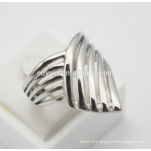 NEW fashion accessories jewelry titanium steel Silver Punk Gothic women One Direction sharp Knuckle Finger Ring feather shape