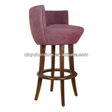 Purple velvet arm bar chair XYH1059