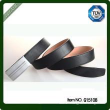 2015 nouvelle ceinture en cuir véritable pour homme en cuir de vachette couleur noire en plein grain