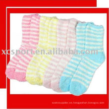 Calcetines de fibra despojados