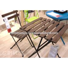 Garten Bistro Set: 1 Tisch, 2 Stühle