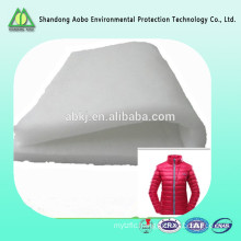 White Color Microfiber Fill Silk Like Garment Polyester Wadding Factory
