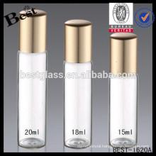 2ml stainless roll ball glass perfume bottles, 18ml special glass perfume bottles