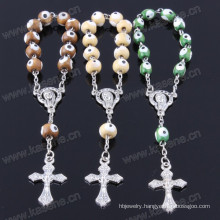 Wholesale Wood Beads Cross Bracelet Religious Bracelet Chain Bracelet
