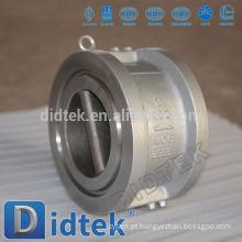 Didtek Zero Leakage Duo Plate Wafer Type Válvula de retenção