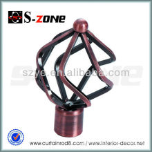 SL14 1# red copper window curtain rod hardware accessories in ceiling dinning room