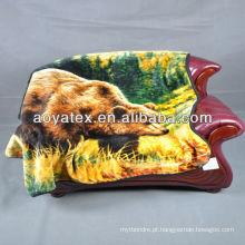 animal impresso cobertor de vison