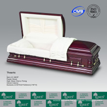 Oversize American Style Solid Wooden Casket Coffin For Funeral Cremation