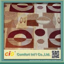 Poliéster de alta qualidade Chair Jacquard Upholstery Custom tecido 145 centímetros de largura