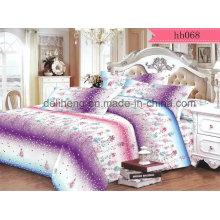 Floral Cashmere Microfibra Poliéster reativo tecido de folha de cama impressa