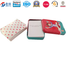 Rectangle Shaped One Deck Poker Package Tin Box for Children Jy-Wd-2015120701