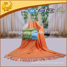 "50""*60"" Large Size Pure Shawl Bamboo Throw Blanket With Fringe"