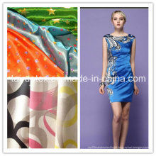Drucken Polyester Satin für Kleid mit guter Qualität