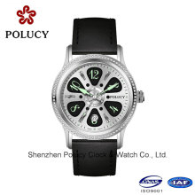 Wholesale Leather Skeleton Automatic Mechanical Man Watch