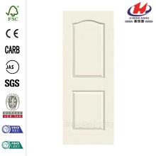 30 in. x 80 in. Woodgrain 2-Panel Eyebrow Top Painted Molded Interior Door Slab