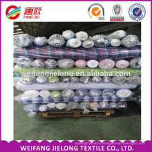 In stock fabric100% Cotton Yarn Dyed Check Textile Fabric for Men's Shirt women's dress plaid yarn dyed fabric stock in Shandong