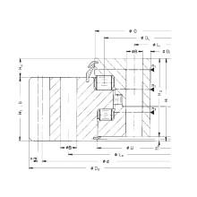 Rothe Erde External Gear Triple Row Roller Slewing Bearing