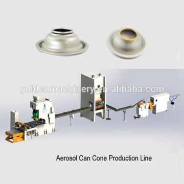 Línea de producción automática de tapas de cono de lata de aerosol