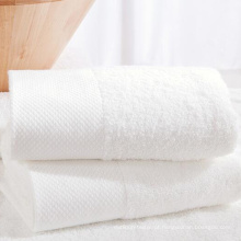 Conjuntos de toalhas de hotel 100% brancos de alta qualidade