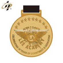 Médaille d'or en alliage de zinc moulé sous pression en alliage de métal