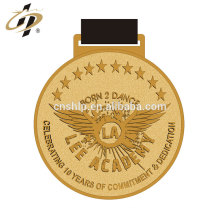 Die casting zinc alloy gold custom metal dance award medals