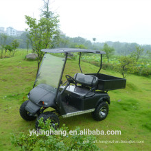 Cheap black gas powered utility vehicle with cargo box for sale