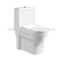 CB-9018 Ventes chaudes Sanitaires Une Pièce Lavabo Toilette Bol en céramique monté au sol siège de toilette jet d'eau
